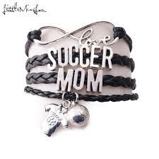 <b>Little Minglou</b> Infinity Love Soccer Mom Bracelet Football Polo Shirt ...