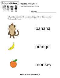Free Kindergarten English Worksheets - Printable and Online... Free Kindergarten English Worksheets. Reading Worksheet