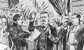「Vice President Theodore Roosevelt was immediately sworn in as president.」の画像検索結果