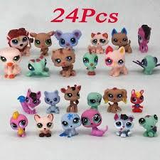 <b>24Pcs Littlest Pet Shop Lot</b> Animals <b>LPS</b> Dog Cat Figures Kids Toy ...