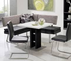small dining bench: table ideas inspirations modern black and white dining table and grey fabric bench for small kitchen also black armless chair interior breakfast nook assorted kitchen benches for small kitchen designs