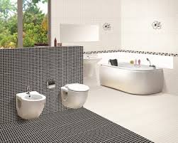 bathroom white tiles:  black and white bathroom decor pictures