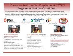 women in sustainable employment wise program is seeking candidates see flyer for complete details
