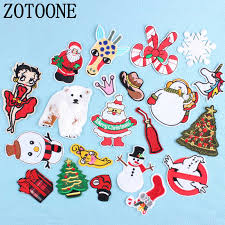 <b>ZOTOONE</b> Christmas Style Patch for Clothing <b>Iron</b> on Embroidered ...