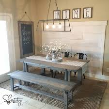 we crashed a friends house and built her a wide plank wall for under 100 and antique kitchen lighting fixtures