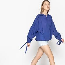 <b>Рубашка</b> свободного покроя с рукавами с напуском, 100% хлопок ...