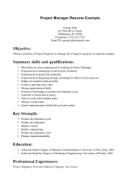 resume cover letter for construction project manager cipanewsletter entry level project management resume experience resumes