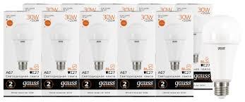 Упаковка светодиодных ламп 10 шт <b>gauss 73219</b>, E27, A67, 30Вт ...