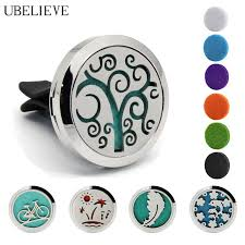 Hot <b>Tree</b> of life <b>Silver 30mm</b> Aromatherapy Car diffuser Necklace ...