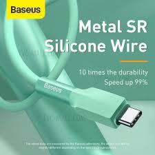 <b>BASEUS Silicone</b> Gel <b>USB</b> Type-C <b>Data</b> Sync Charging <b>Cable</b>, 2m ...