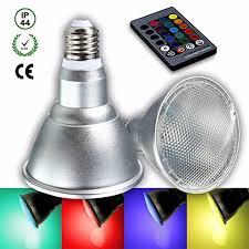 Ministry of Warehouse <b>20W E27</b> Dimmable Par38 <b>RGB LED</b> Light ...