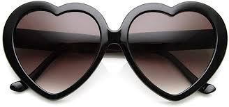 Large Oversized Womens Heart Shaped Sunglasses ... - Amazon.com