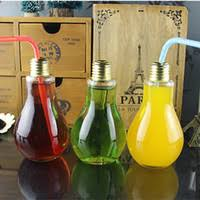 cheap drinking glass drinkware light bulb drinking jar tea fruit juice drink bottle cup plant flower cheap office lighting