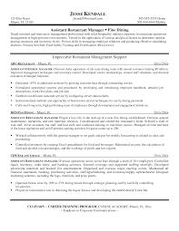 restaurant assistant manager resume berathen com restaurant assistant manager resume to get ideas how to make mesmerizing resume 9