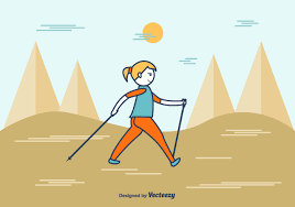 <b>Cartoon Nordic</b> Walking Free Vector Art - (11 Free Downloads)