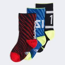 adidas Messi Socks <b>3 Pairs</b> - Black | adidas US