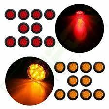 "<b>20pcs</b> Red <b>Amber</b> 2"" Round LED Side Marker Clearance Light ..."