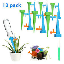 <b>12Pcs Plant</b> Waterer Automatic Self Watering Spikes System <b>Garden</b> ...