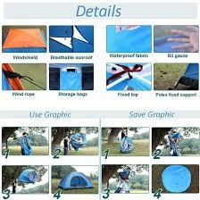 Iweibao <b>Portable</b> Folded <b>Pop</b> Up Pod 2 <b>Person</b> Tent