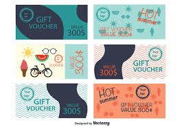 gift card template vector art 12712 s template summer gift vouchers