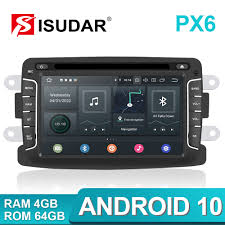 Isudar PX6 <b>1 Din Android 10</b> Car Radio For Dacia/Sandero/Duster ...