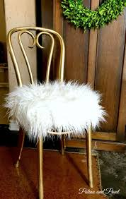 inspiration bathroom vanity chairs: this chair gets a vanity chair makeover with a little spray paint some foam