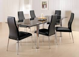 chair dining tables room contemporary: appealing modern dining room sets in contemporary dining room with black sleek table furnished with candle