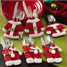 6Pcs Christmas Decorations Santa Claus Silverware Holders ... - Vova