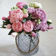 <b>Peony</b> Fabric Dried & Artificial Flowers | eBay
