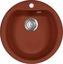 <b>Мойка кухонная AquaGranitEx M</b>-<b>07</b> красный марс - купить в ...