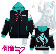 Really Nice Anime <b>Hatsune</b> Miku Costume <b>Unisex</b> Zipped <b>Jacket</b> ...