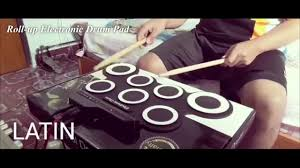 Roll-up <b>Portable Foldable</b> Silicone <b>Electronic Drum</b> Pad Kit - YouTube
