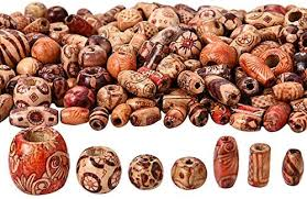 400 Pieces Printed Wooden Beads <b>Various Shapes</b> Loose Wood ...