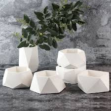 <b>Nicole Silicone Concrete Mold</b> Geometric Flower Pots Cement Vase ...
