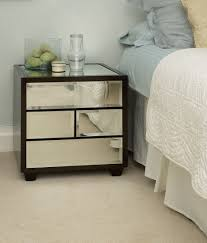 Off White Bedroom Furniture Custom Brown Wooden Frame Bedside Table With Mirror Drawer On Off