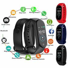 M4 <b>Smart Wristband Fitness</b> Bracelet Heart Rate Monitor Activity ...