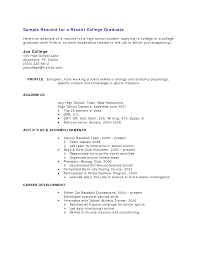 graduate resume sample resume samples for  seangarrette coresume examples for college students no experience