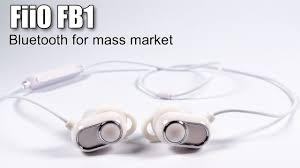 <b>FiiO FB1</b> Bluetooth earphones review - YouTube
