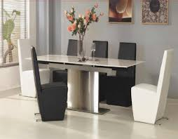 White Marble Dining Table Dining Room Furniture Modern Dining Room Decoration Using Rectangular Clear Glass Top