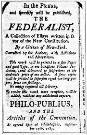 the federalist papers   wikipediaan advertisement for the federalist    using the pseudonym  quot philo publius quot