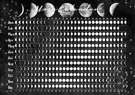 Image result for moon phase images calendar 2016