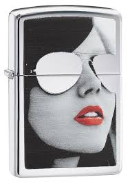 <b>Зажигалка ZIPPO</b> 28274 Sunglasses <b>Gold</b> Design