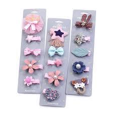 <b>5PCS</b>/<b>Pack Cartoon Crown</b> Bow Girls Cute Hairpins Princess ...