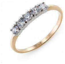 ЛУКАС <b>Кольцо с 5 фианитами</b> из красного золота R01-Z-Z-RMS ...