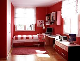 charming red interior scheme for small design ideas with essential white side board be equipped exotic bedroom idea furniture small
