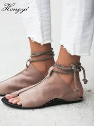 <b>Hongyi</b> New arrival Cheap Price Pu <b>leather</b> Open toe Rivet single ...