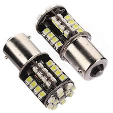 <b>2xCar</b> 1156 BA15S Pure 44 SMD <b>LED</b> Tail Brake Interior Bulb ...