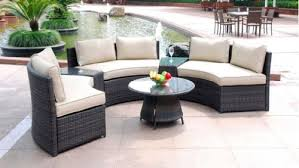 Where to buy <b>6 Piece</b> Curved <b>Outdoor Sofa</b> 9 Ft. Sectional Patio ...