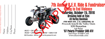 7th annual r e v ride car show fundraiser raffle ticket sample