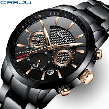 CRRJU <b>Men's</b> Watch <b>30m</b> Waterproof <b>Fashion Mens</b> Watches Top ...